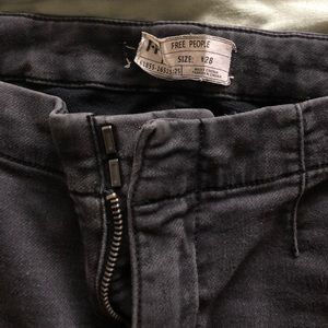Free People High Waisted Black Jeans